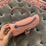 Сумка, клатч Гуччи Marmont натуральная кожа  22, 25 см, фото 5