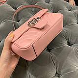 Сумка, клатч Гуччи Marmont натуральная кожа  22, 25 см, фото 2