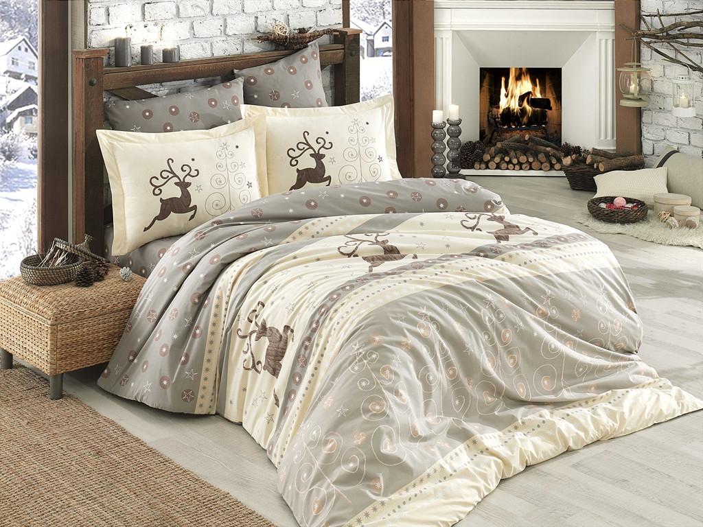 Полуторный комплект постельного белья Poplin Ludovica 160x220 см. (8698499121829)