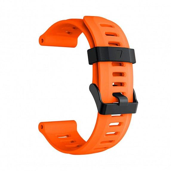 Силиконовый ремешок для GARMIN Universal 26 Smooth Silicone Band Orange