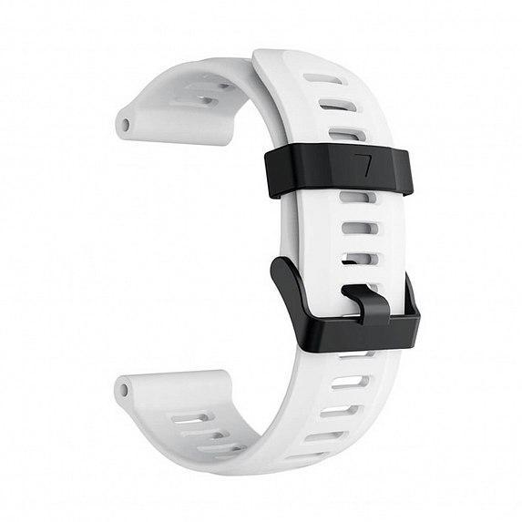 Силиконовый ремешок для GARMIN Universal 26 Smooth Silicone Band White
