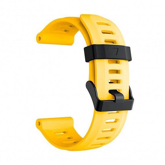 Силиконовый ремешок для GARMIN Universal 26 Smooth Silicone Band Yellow