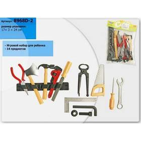 Набор инструментов 8968D-2 (192шт) 14 предметов, ключи, отвертки, молоток, в пакете