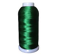 Нитки для машинной вышивки зеленый (18-6024)