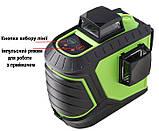 Лазерный уровень/лазерный нивелир ЗЕЛЕНЫЙ ЛУЧ 3D Fukuda MW-93T-2-3GJ (яркий зеленый луч). Аккумулятор 2600!, фото 5