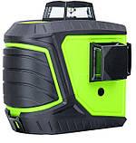 Лазерный уровень/лазерный нивелир ЗЕЛЕНЫЙ ЛУЧ 3D Fukuda MW-93T-2-3GJ (яркий зеленый луч). Аккумулятор 2600!, фото 6