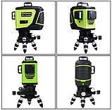 Лазерный уровень/лазерный нивелир ЗЕЛЕНЫЙ ЛУЧ 3D Fukuda MW-93T-2-3GJ (яркий зеленый луч). Аккумулятор 2600!, фото 8