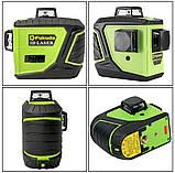 Лазерный уровень/лазерный нивелир ЗЕЛЕНЫЙ ЛУЧ 3D Fukuda MW-93T-2-3GJ (яркий зеленый луч). Аккумулятор 2600!, фото 9