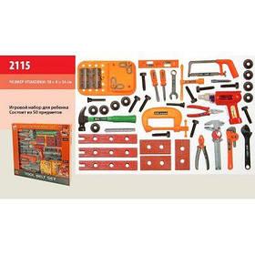 Набор инструментов 2115 (8шт) дрель, отвертки, плоскогубцы, в коробке 58*8*54см