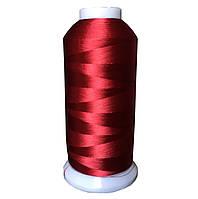 Нитки для машинной вышивки красный темный (519)