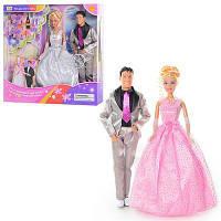 """Кукла """"Defa Lucy """" 20991 (24шт/2) в свадебном платье, с Кеном, аксесс., в кор.33.5*34*6с"""