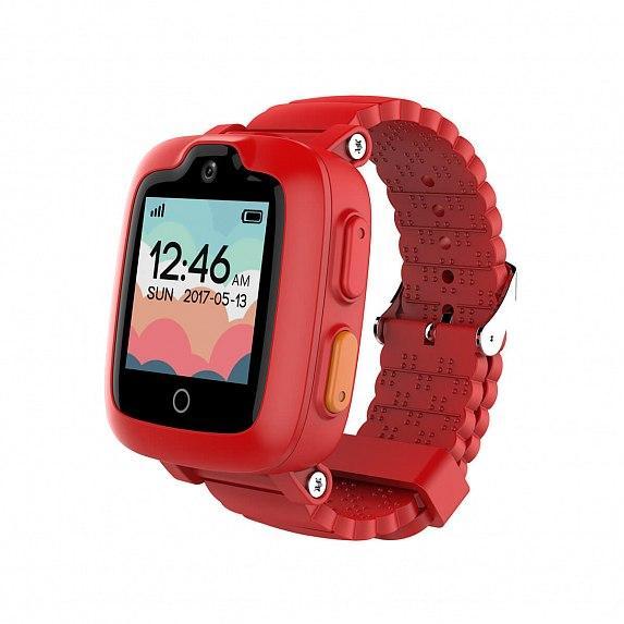 Детские смарт-часы Elari KidPhone 3G Red с GPS-трекером и видеозвонками (KP-3GR)