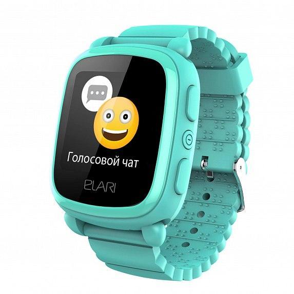 Детские смарт-часы Elari KidPhone 2 Green с GPS-трекером (KP-2G)