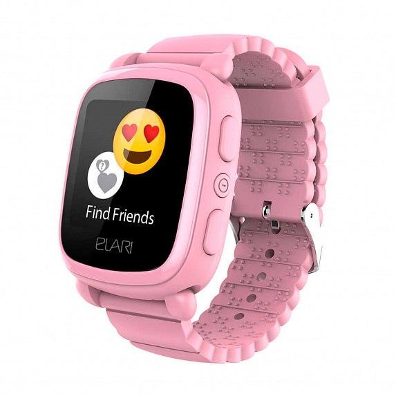 Детские смарт-часы Elari KidPhone 2 Pink с GPS-трекером (KP-2P)