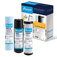 Комплект картриджей 1-2-3 Ecosoft улучшенный для фильтров обратного осмоса хлор CHV3ECO (44094)