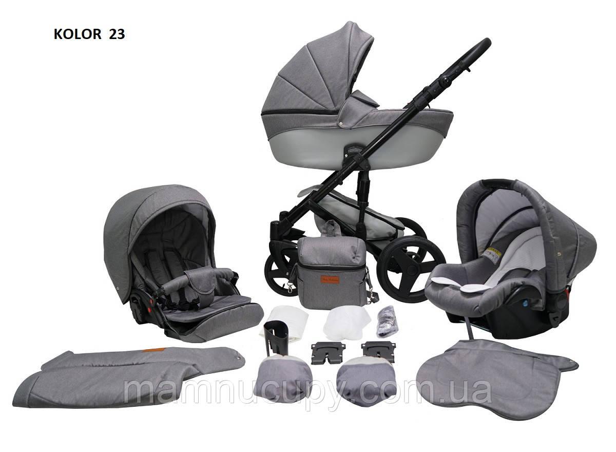 Детская универсальная коляска 2 в 1 Mikrus Comodo 23