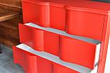 Дизайнерский красный комод из дерева, фото 2