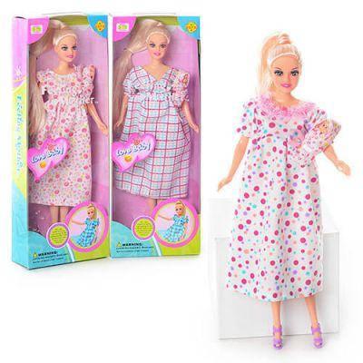 Кукла 6001DEFA беременная в коробке 32-12-5см, фото 2