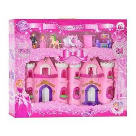Замок CB 888-5 принцессы, фигурки,2шт, карета с лошадью,мебель,муз,свет