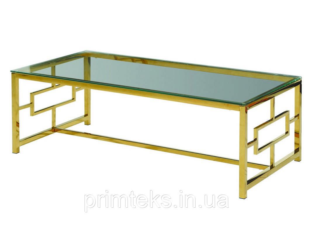 Журнальний стіл CL-1 прозорий+золото
