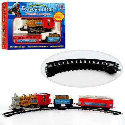 Железная дорога 70133 «Голубой вагон» песенка,свет прожектора,длина путей 282 см, фото 2