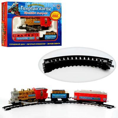 Железная дорога 70133 «Голубой вагон» песенка,свет прожектора,длина путей 282 см