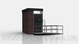 Модульный санитарный блок, модульный туалет