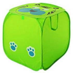 Корзина для игрушек M 2508, животное, размер 45 см, высота 45 см, крышка на липучке, с ручками, 6 видов, в кульке цвет зеленый