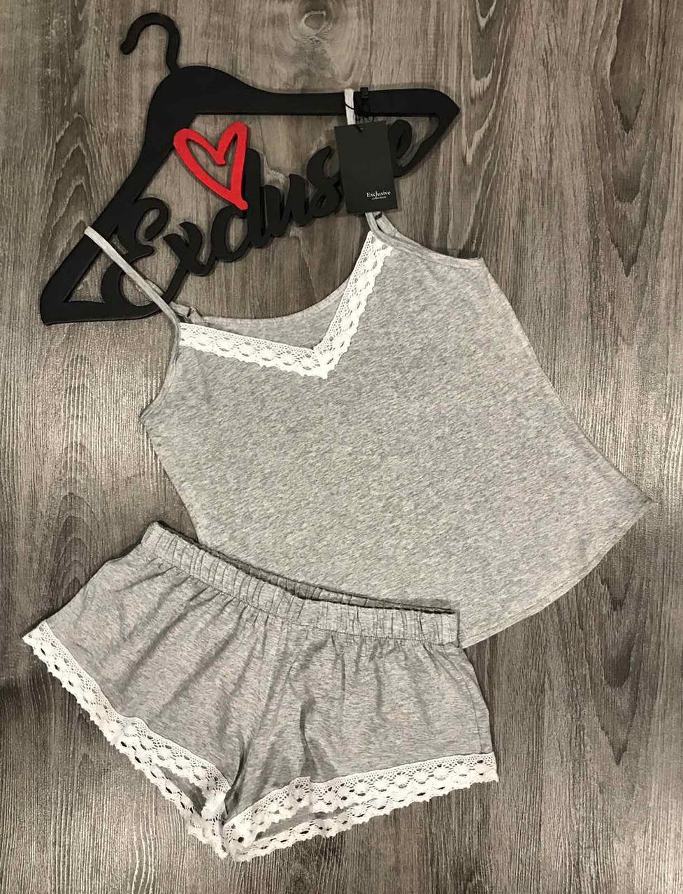 Вискозный комплект майка и шорты для дома ТМ Exclusive