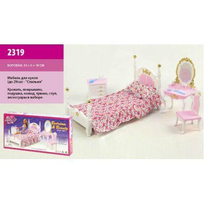 """Мебель """"Gloria """" 2319 (36шт/3) для спальни, кровать, туалетный столик, …в кор.33, 2*16, 5*5см"""