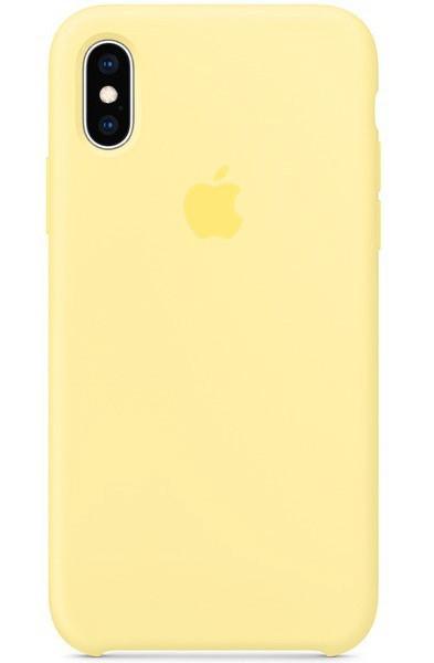 Задняя накладка Hi-Copy Silicone Case APPLE IPHONE X | XS (№51 CANARY YELLOW)