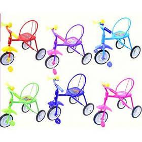 """Велосипед 3-х колесный 0202 (6шт) """"Малятко """", 6 цветов, гвоздик"""