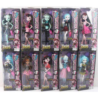 "Кукла ""Monster High "" YF10010-1 (96шт/2) 10 видов, шарнир, с аксесс, в кор.14*7*33см"