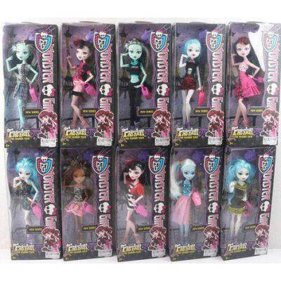 "Кукла ""Monster High "" YF10010-1 (96шт/2) 10 видов, шарнир, с аксесс, в кор.14*7*33см, фото 2"