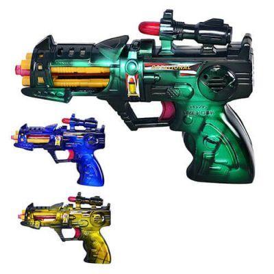 Пистолет 215 музыкальный в кульке 17-12 см