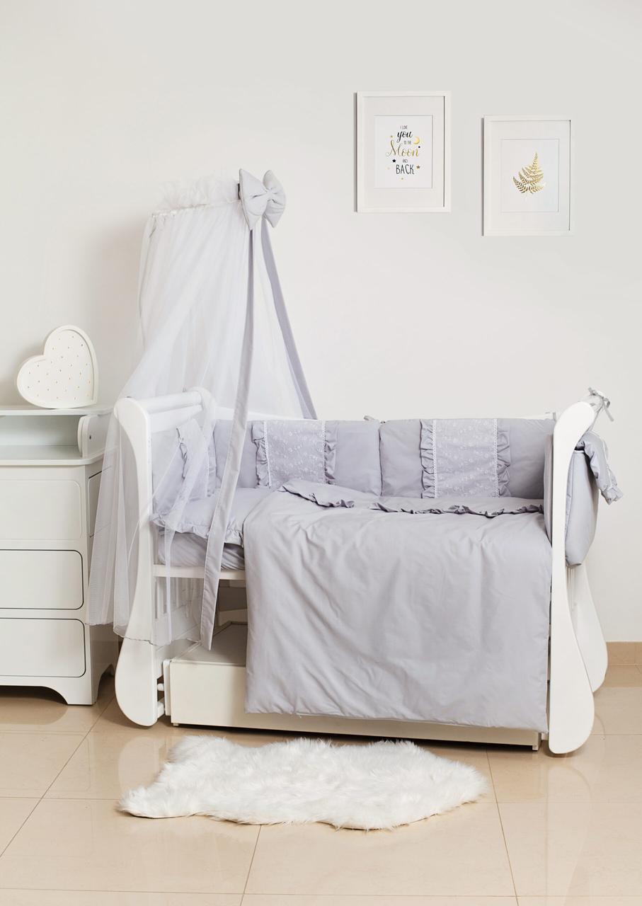 Детское постельное белье Twins Romantik Spring Collection TR-10 Grey 8 эл