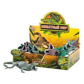 Животное 7206 крокодил, силикон-тянучка 12 шт в дисплее 27-20-7 см ЦЕНА ЗА ДИСПЛЕЙ