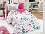 Полуторный комплект постельного белья Poplin Rossela 160x220 см. (8698499132504), фото 2