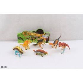 Животные 866-K61 (144шт/2) динозавры, 6 шт в пакете 20см