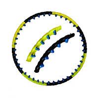 Хулахуп магнитный Косичка Обруч Массажный с магнитными шариками 110 см 8 секций