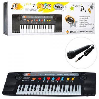 Синтезатор MQ-3700 (48шт) 37клавиш,муз, микрофон, 3тона,8ритмов,на бат-ке,в кор-ке,45-13,5-5см, фото 2