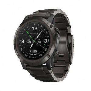 Авиационные часы GARMIN D2 Delta PX with DLC Titanium & Black Silicone Bands