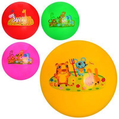 Мяч детский MS 0979 9 дюймов, одностикерный, ПВХ, 60-65г, микс видов(животные), 5 цветов ПВХ