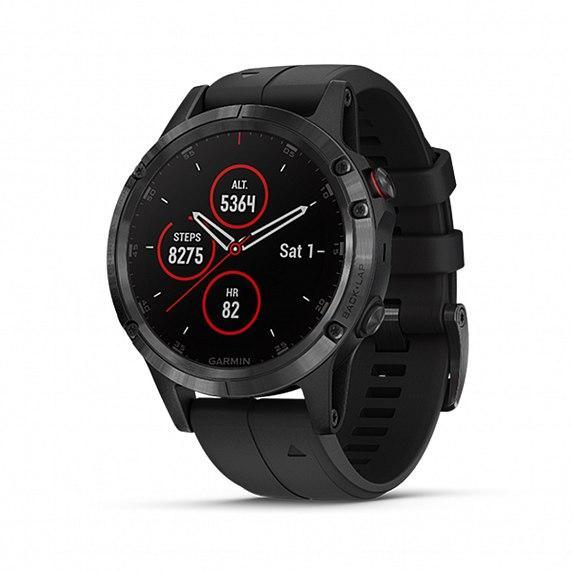Спортивные часы GARMIN Fenix 5 Plus Sapphire Black with Black Silicone