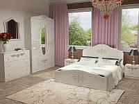 Спальня Лючия - кровать, тумбы, комод, шкаф