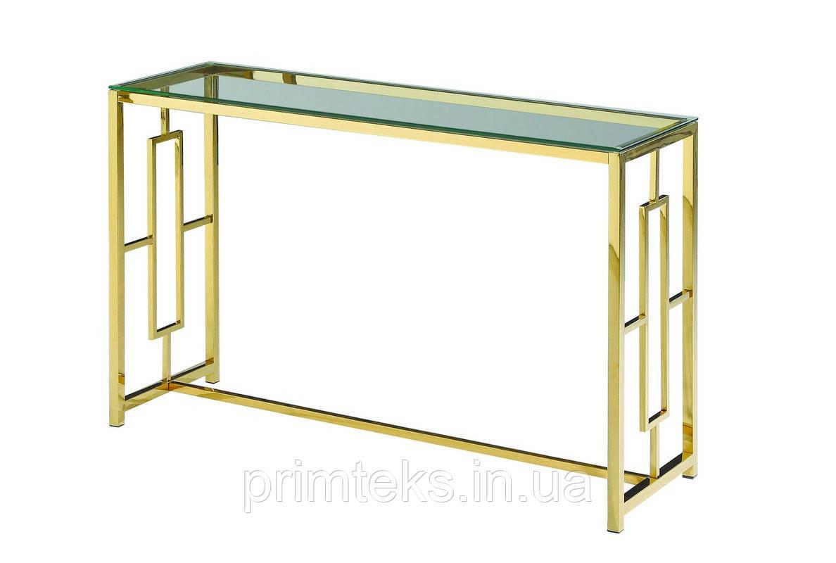 Консоль CL-3 прозорий + золото
