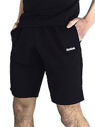 Чоловічі Шорти в стилі Рібок / Reebok Чорні трикотажні в розмірі S(46) M(48) L (50) XL(52) XXL (54)