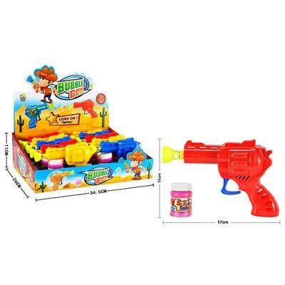 Мыльные пузыри 929 пистолет, запаска,10 шт (3цвета) в дисплее 34-26,5-11 см цена за дисплей, фото 2