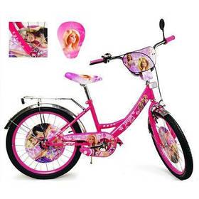 Велосипед 2-х колес 20'' 182014 (1шт) со звонком, зеркалом, руч.тормоз, без доп.колес