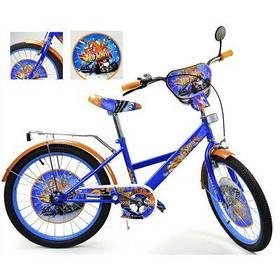 Велосипед 2-х колес 20'' 182009 (1шт) со звонком, зеркалом, руч.тормоз, без доп.колес